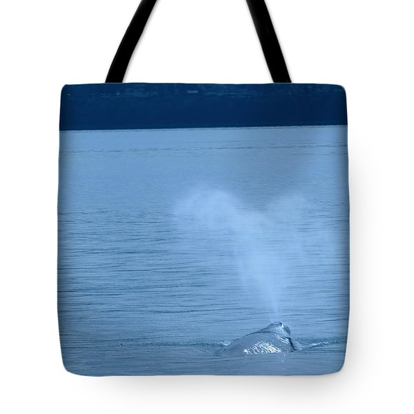 Out The Blow Hole  Tote Bag by Jeff Swan