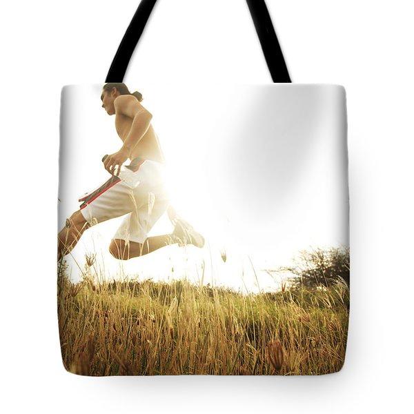 Outdoor Jogging II Tote Bag by Brandon Tabiolo - Printscapes