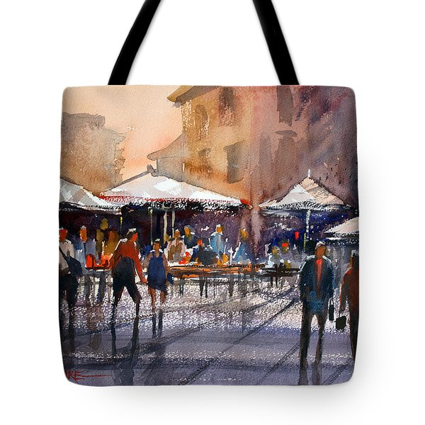 Outdoor Market - Rome Tote Bag by Ryan Radke