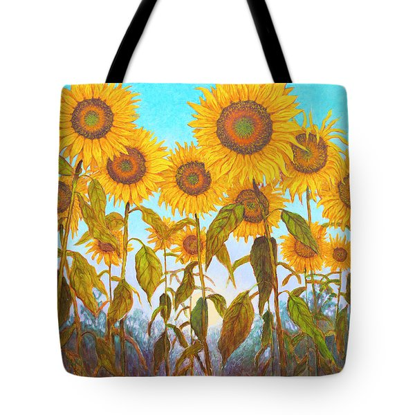 Ovation Sunflowers Tote Bag by Wiley Purkey
