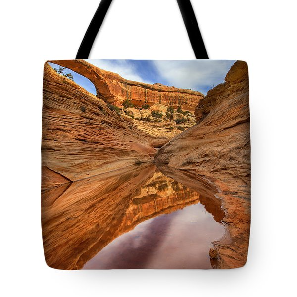 Owachomo Reflected Tote Bag by Mike  Dawson
