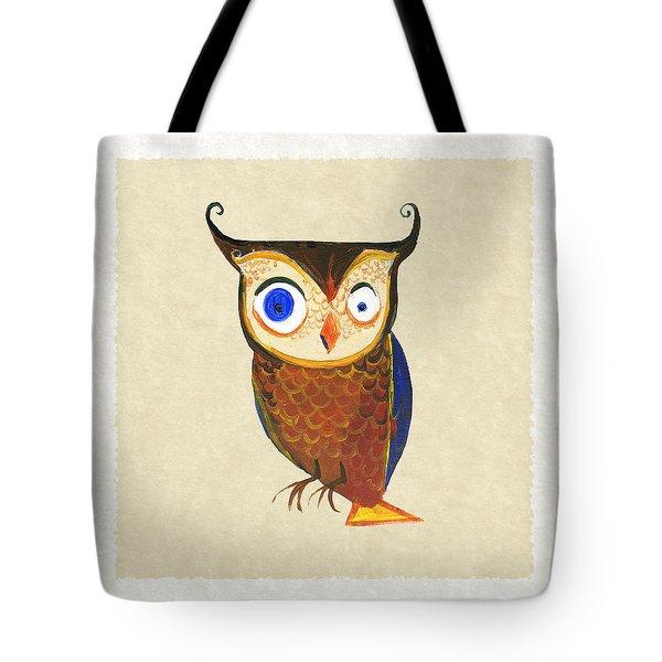 Owl Tote Bag by Kristina Vardazaryan