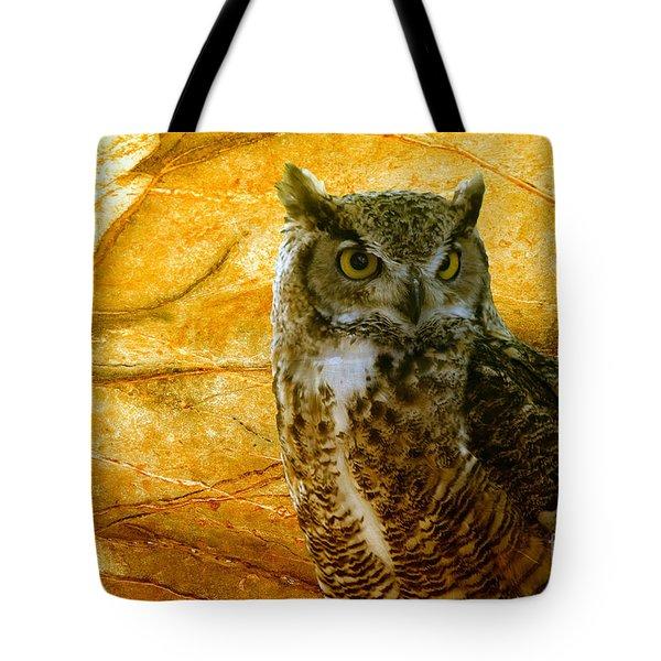 Owl Tote Bag by Teresa Zieba