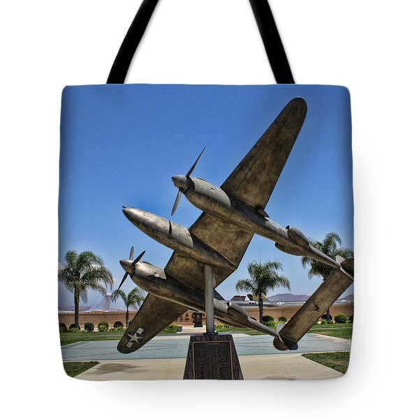 P-38 Memorial March Field Museum Tote Bag by Tommy Anderson