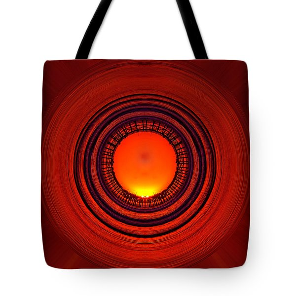 Pacific Beach Pier Sunset - Abstract Tote Bag by Peter Tellone