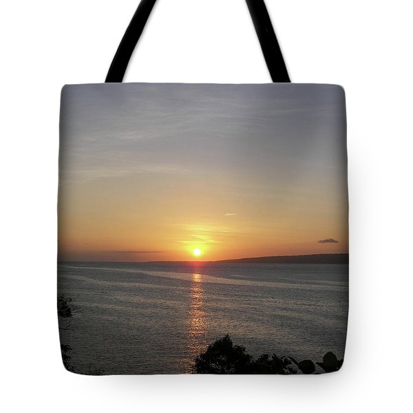 Pacific Island Sunset Tote Bag by Kate Farrant