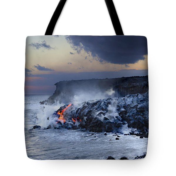 Pacific Lava Flow Tote Bag by Dave Fleetham - Printscapes