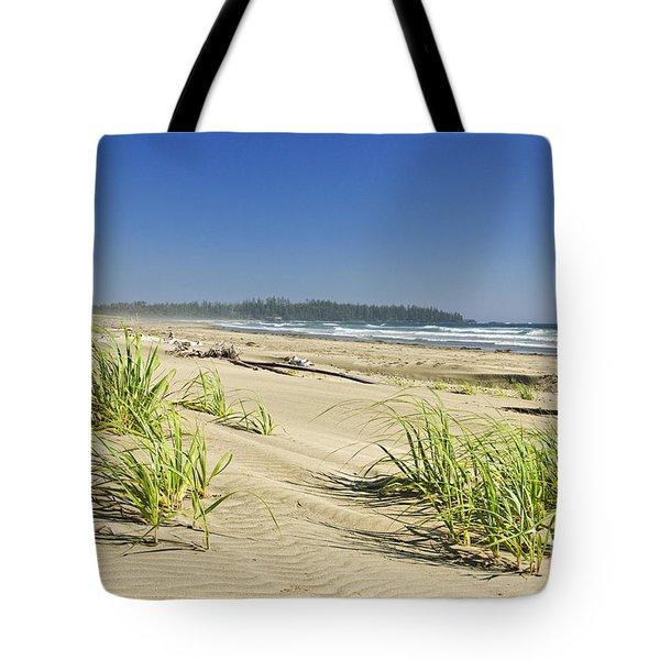 Pacific ocean shore on Vancouver Island Tote Bag by Elena Elisseeva