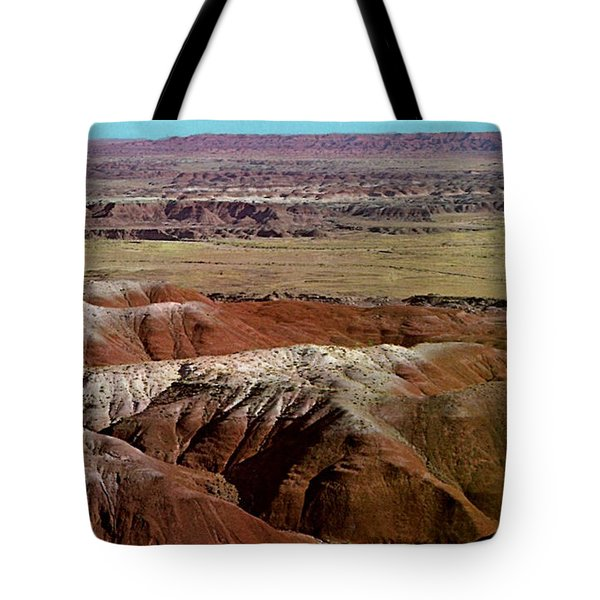 Painted Desert In Arizona Tote Bag by Ruth  Housley