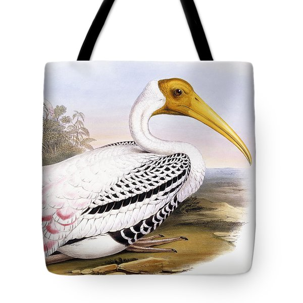 Painted Stork Tote Bag by John Gould