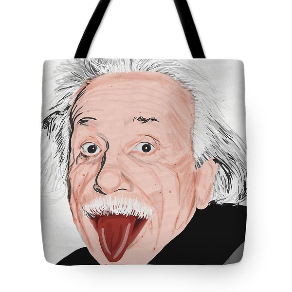 Painting Of Albert Einstein Tote Bag by Setsiri Silapasuwanchai
