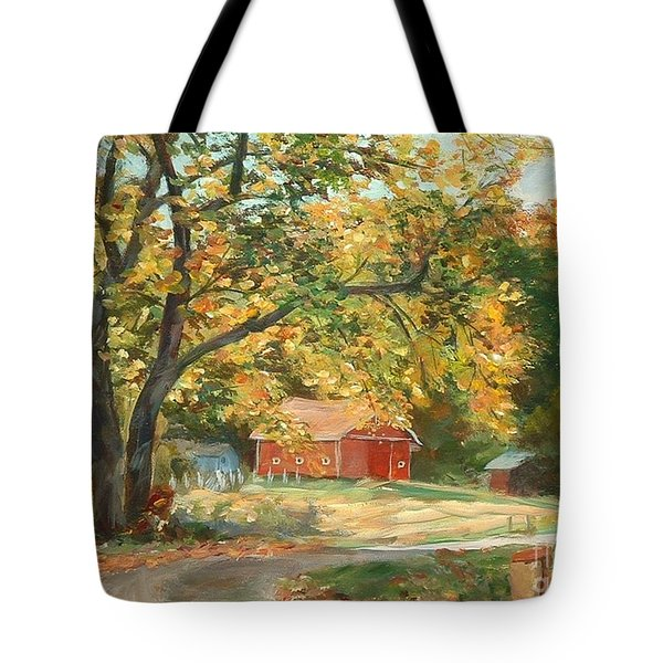 Painting The Fall Colors Tote Bag by Claire Gagnon