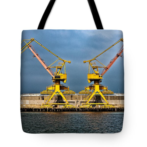 Pair Of Cranes Tote Bag by Christopher Holmes