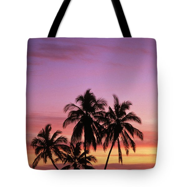 Palm Cluster Tote Bag by Allan Seiden - Printscapes