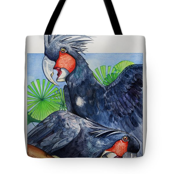 Palm Cockatoos Tote Bag by Robert Lacy