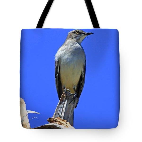 Palm Mocking Bird Tote Bag by Deborah Benoit