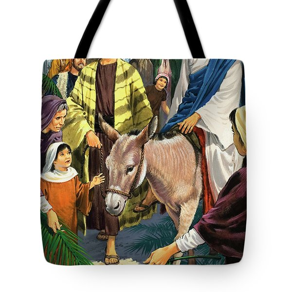 Palm Sunday Tote Bag by Clive Uptton