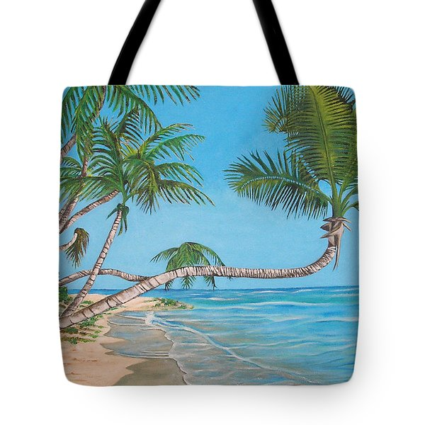 Palm Tree Tote Bag by Edward Maldonado