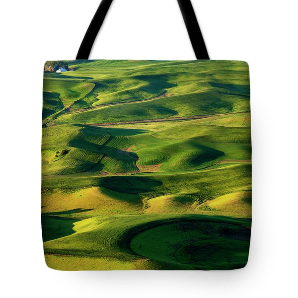 Palouse Contours Tote Bag by Mike  Dawson