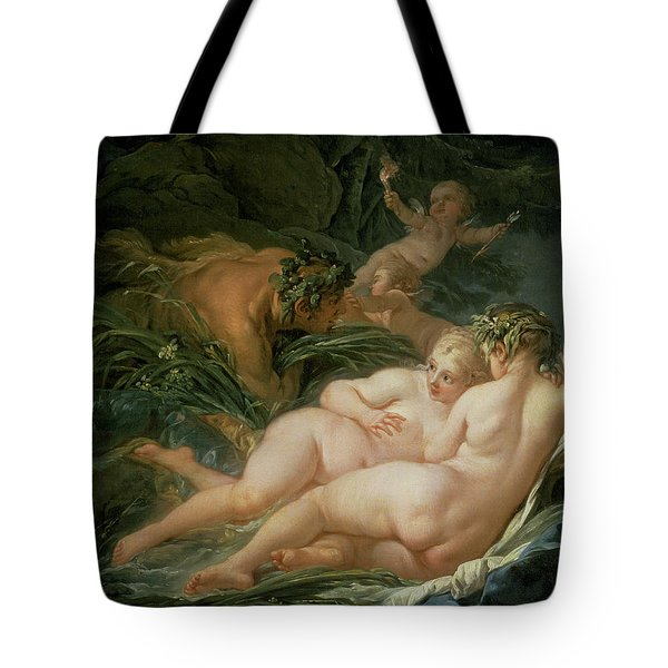 Pan And Syrinx Tote Bag by Francois Boucher