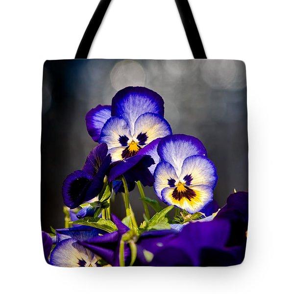 Pansies Tote Bag by Christopher Holmes