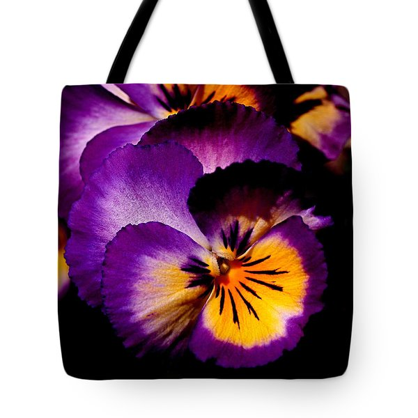 Pansies Tote Bag by Rona Black