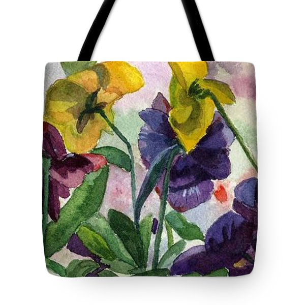 Pansy Field Tote Bag by Lynne Reichhart