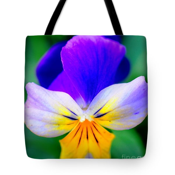 Pansy Tote Bag by Kathleen Struckle