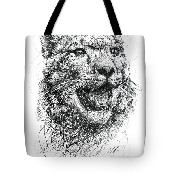 Leopard Tote Bag by Michael  Volpicelli