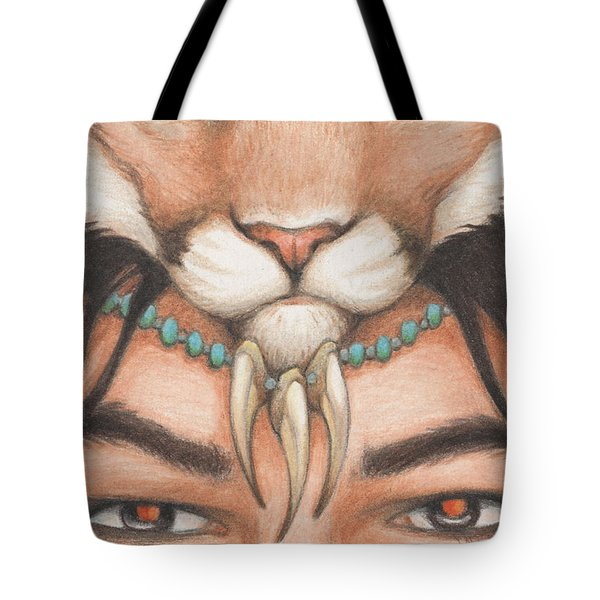 Panther Warrior Tote Bag by Amy S Turner