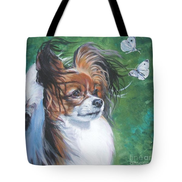 Papillon And Butterflies Tote Bag by Lee Ann Shepard