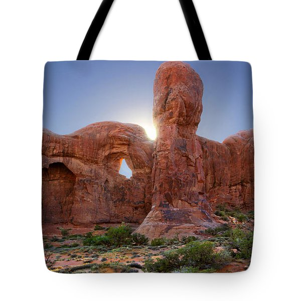 Parade Of Elephants In Arches National Park Tote Bag by Mike McGlothlen