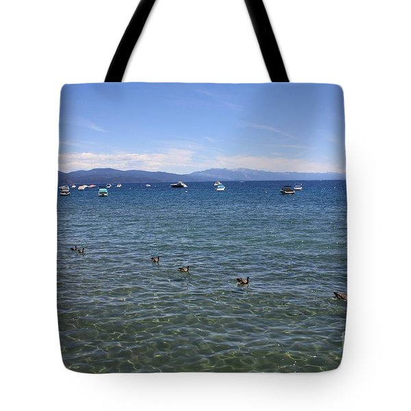 Parade Of Geese Tote Bag by Carol Groenen