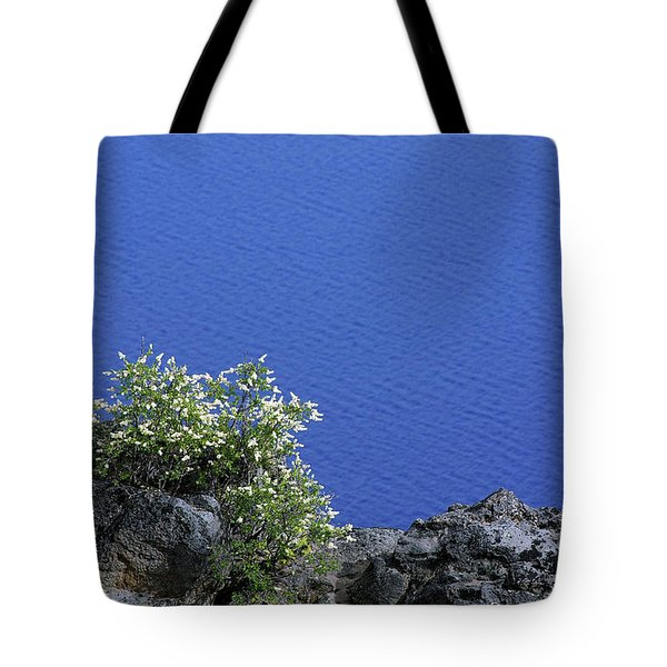 Paradise for Backpackers - Crater Lake in Crater National Park - Oregon Tote Bag by Christine Till