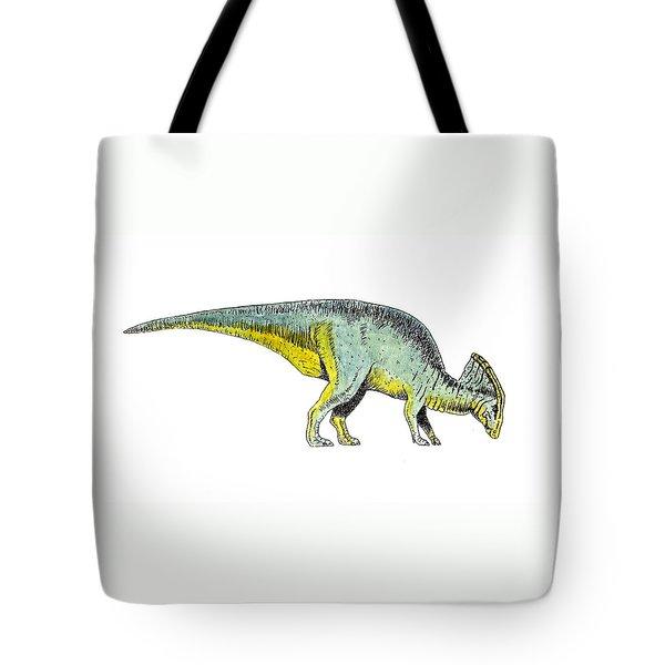 Parasaurolophus Tote Bag by Michael Vigliotti
