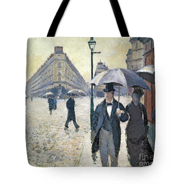 Paris A Rainy Day Tote Bag by Gustave Caillebotte