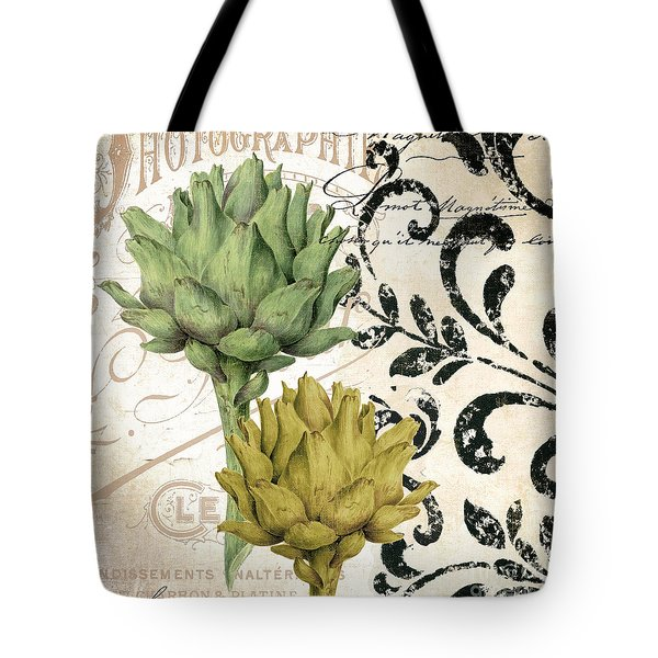 Paris Artichokes Tote Bag by Mindy Sommers
