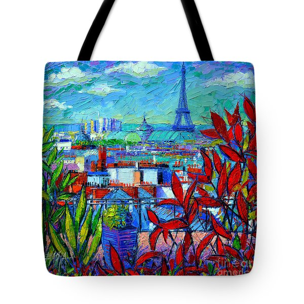 Paris Rooftops - View From Printemps Terrace   Tote Bag by Mona Edulesco