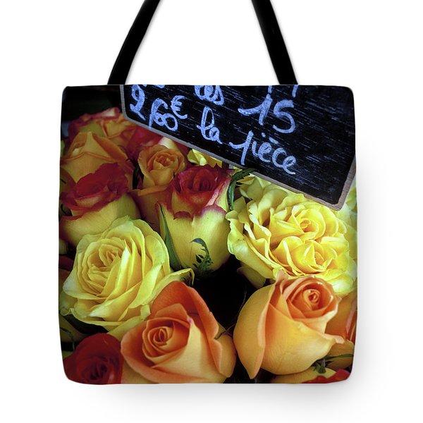 Paris Roses Tote Bag by Kathy Yates