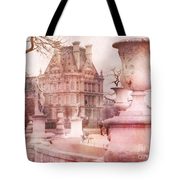 Paris Tuileries Park Garden - Jardin Des Tuileries Garden - Paris Tuileries Louvre Garden Sculpture Tote Bag by Kathy Fornal