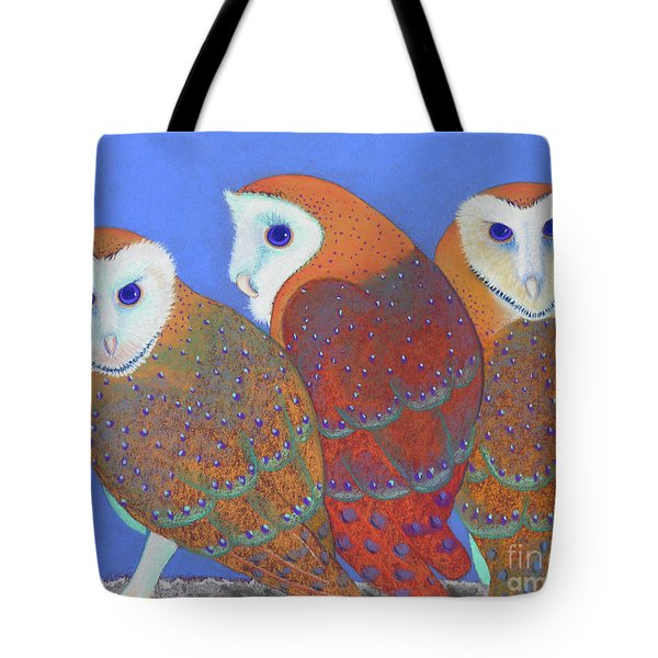 Parliament Of Owls Detail 2 Tote Bag by Tracy L Teeter