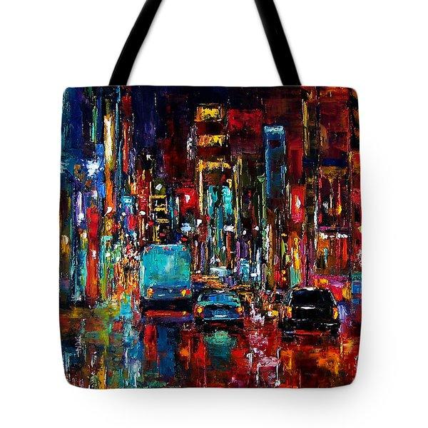 Party Of Lights Tote Bag by Debra Hurd