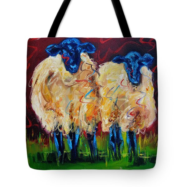 Party Sheep Tote Bag by Diane Whitehead
