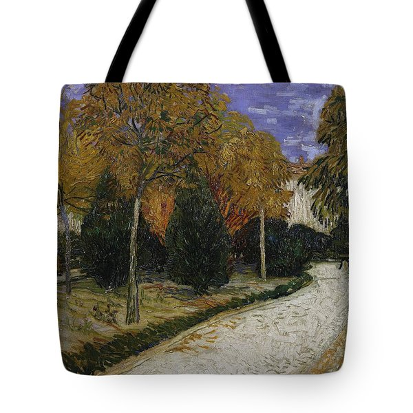 Path In The Park At Arles Tote Bag by Vincent Van Gogh