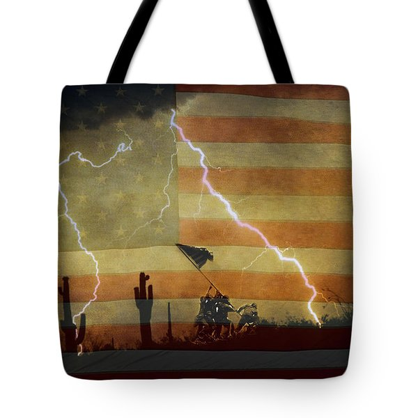 Patriotic Operation Desert Storm Tote Bag by James BO  Insogna