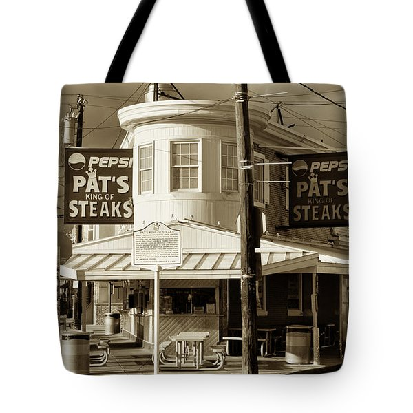 Pat's King of Steaks - Philadelphia Tote Bag by Bill Cannon