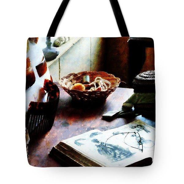 Pattern Book Tote Bag by Susan Savad