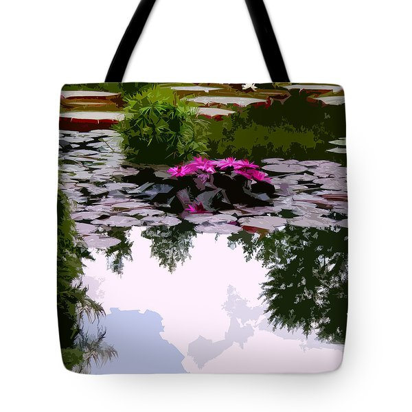 Patterns of Peace Tote Bag by John Lautermilch