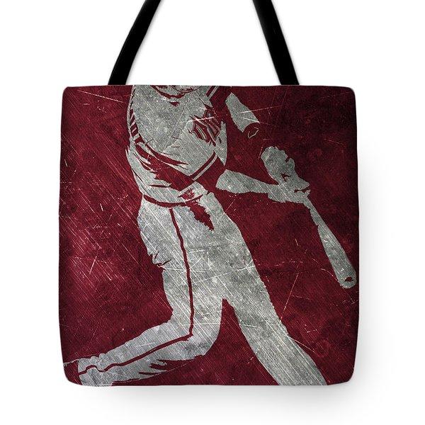 Paul Goldschmidt Arizona Diamondbacks Art Tote Bag by Joe Hamilton