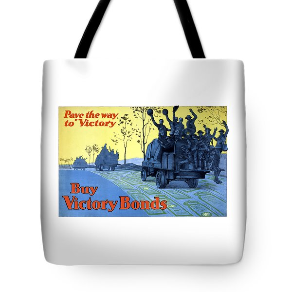 Pave The Way To Victory Tote Bag by War Is Hell Store